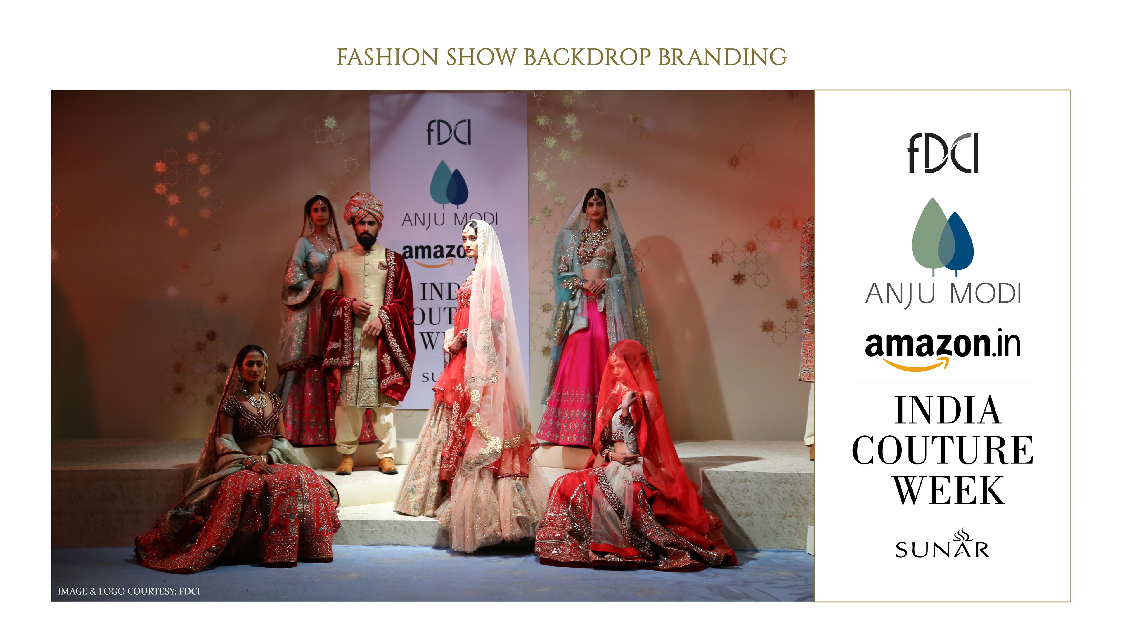 Fashion Show Backdrop Branding